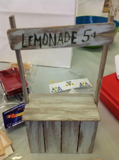 MiniCal's Jan 16 workshop: build a lemonade stand and dress a child vendor.