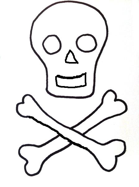 Piratenhut naehen-totenkopf malvorlage-piratenhut