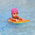 teaching babies to swim