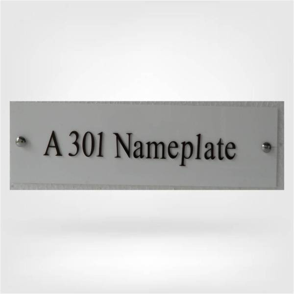 NameplateWorld acrylic nameplate