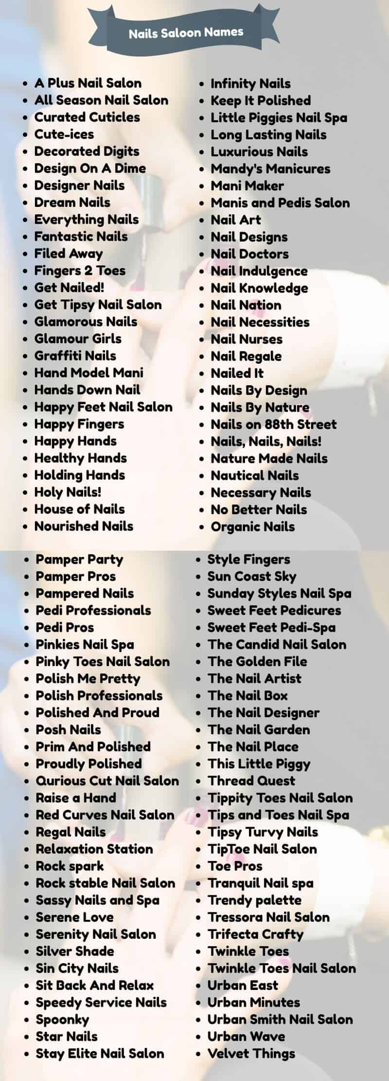 400 Classy Nail Salon Names For Your Business Namecampaign
