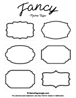 Free Printable Pattern Name Tags