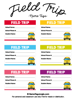 Free Name Tag Templates Page 5