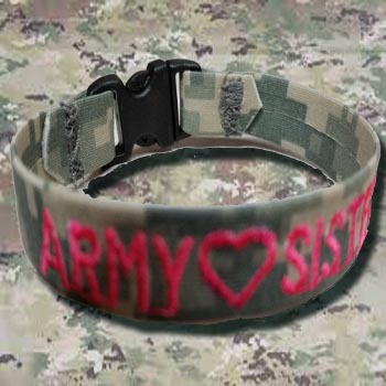 Red Camo Bracelets From Name Tape Factory in Wisconsin, Veteran Owned