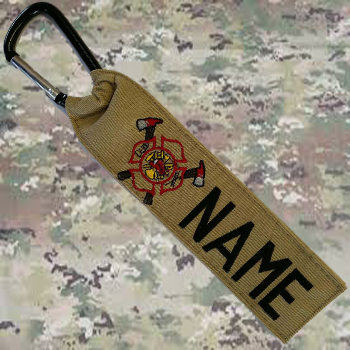firefighters luggage gear tag