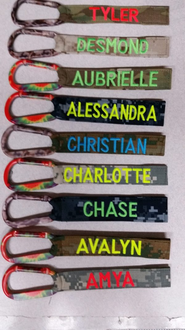 1 inch Luggage Tag With Carabiner Hook colors