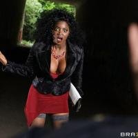 Horny Ebony Stranger Fucks Flasher!