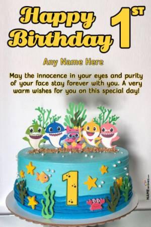 Happy Birthday Cake For Baby Boy With Name : happy, birthday, Birthday, Recopakom