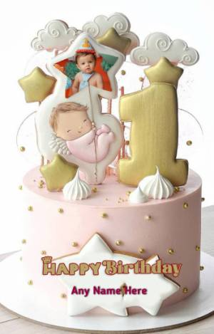 Happy Birthday Cake For Baby Boy With Name : happy, birthday, Birthday, Happy, Photo., Felakoder