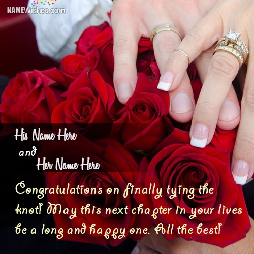 Wedding Congratulations Wishes With Couple Names