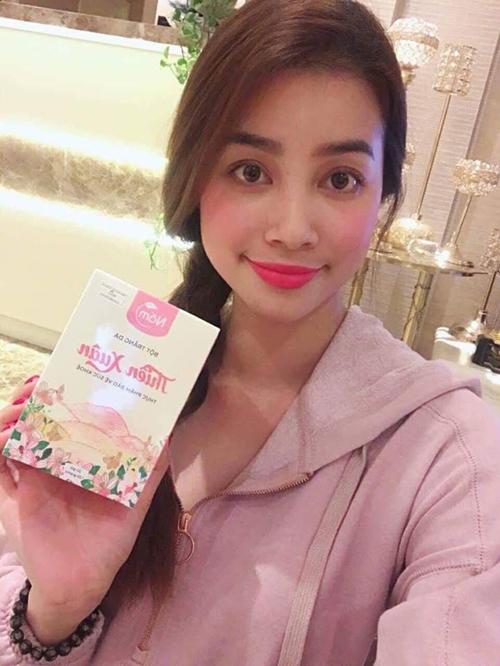 Hoa hậu Phạm Hương tin tưởng dùng bột trắng da Thiên Xuân v2