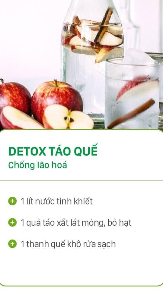 DETOX TÁO QUẾ - CHỐNG LÃO HÓA