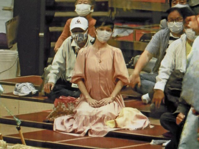 溜席の妖精(タニマチのお嬢さん)ワンピース