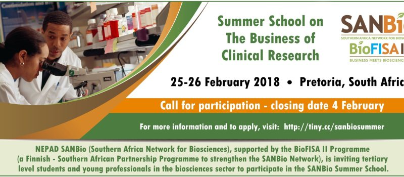 SANBio Summer School: The Business of Clinical Research
