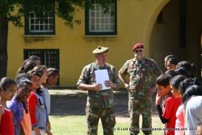 Major Charles de Cruz (producer) and Sgt Major Leon Robertson explain the role of the guard of honour