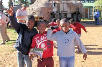 These boytjies are also very excited about all the activity on their community field