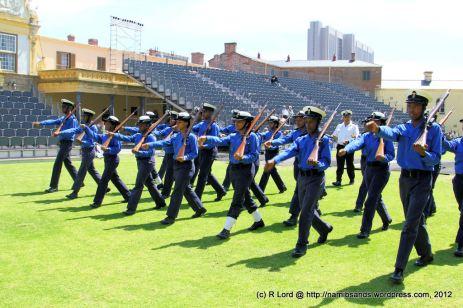 Cadets of the SA Navy drilling