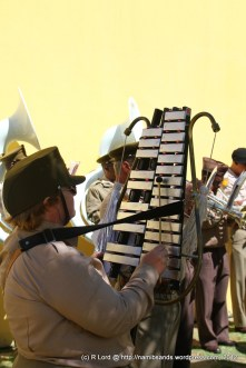 A glockenspiel is also not often associated with military bands
