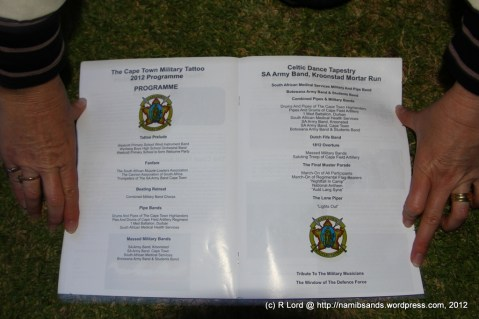 The programme schedule