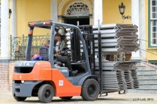Forklift man poses obligingly for a photo!