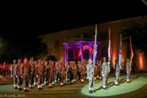 Flag bearers and honour guard