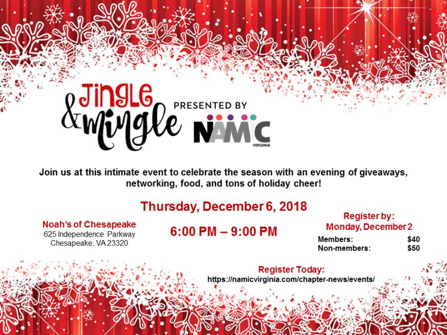 NAMIC VA Jingle and Mingle Flyer 11.07.18