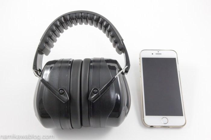 Patech 防音イヤーマフ・iPhone 6と大きさ比較