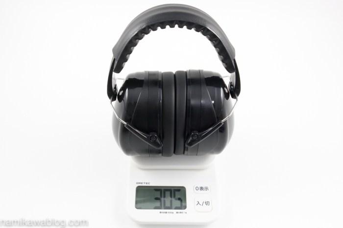 Patech 防音イヤーマフ・重量測定