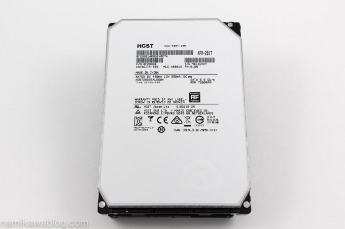 HGST Deskstar NAS 8TB本体