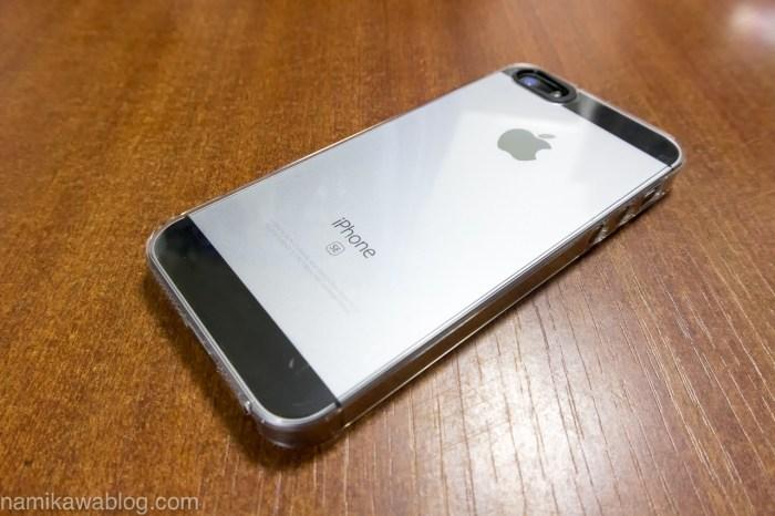 パワーサポート・エアージャケットセット for iPhone5S/5 PJK-71 取付作業完了