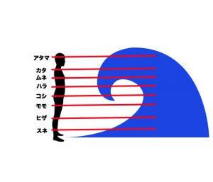 波のサイズの図解