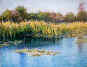 Shallow Pond, Carolyn Weins' Painting