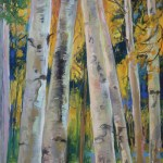 Aspens Cloudcroft, painting by Felicia Macheske