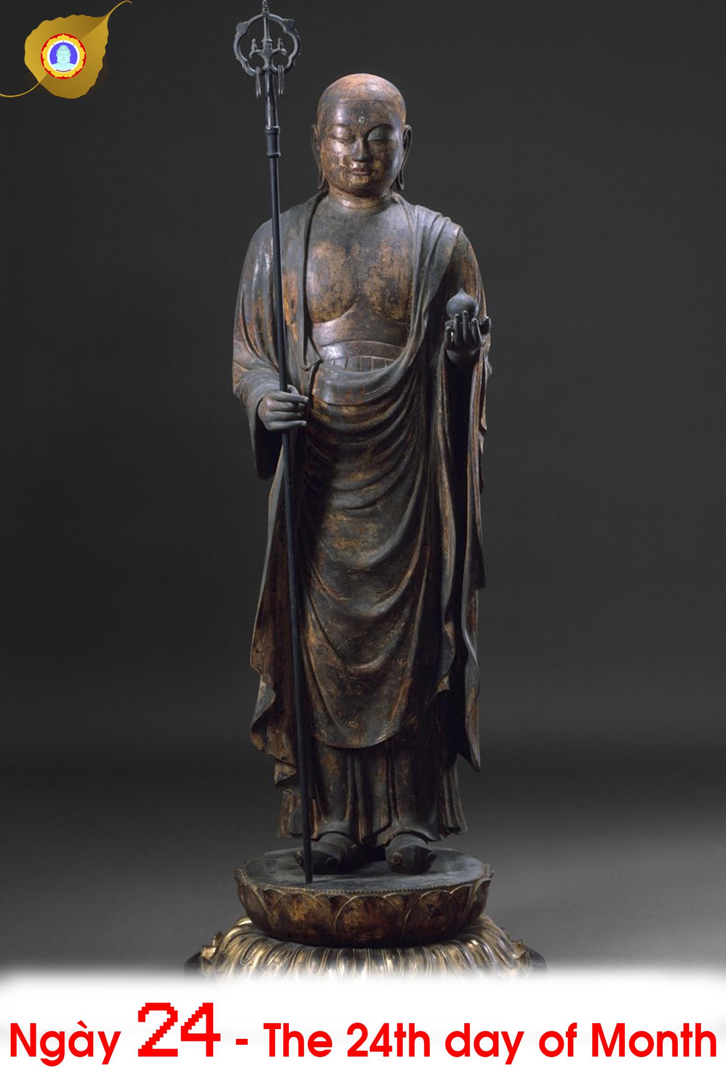 Duyên nhật ngày 24: Đại Nguyện Địa Tạng Vương Bồ tát – Earth-Store Bodhisattva