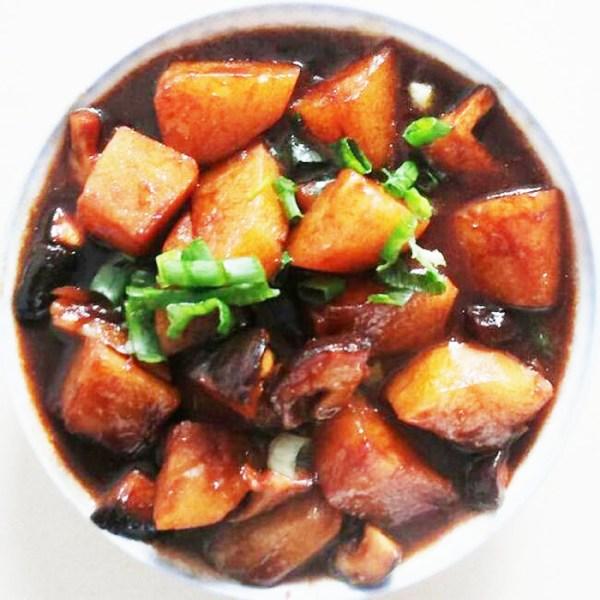 cách chế biến nấm hương khoai tây