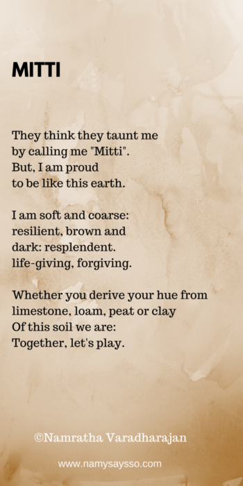 Naani Poem inspired by Dark Is Beautiful