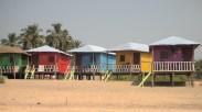 Colorful beach huts in Agonda, Goa