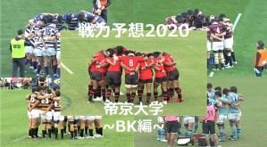 【戦力予想2020】関東対抗戦A 帝京大学ラグビー部 ~BK編~