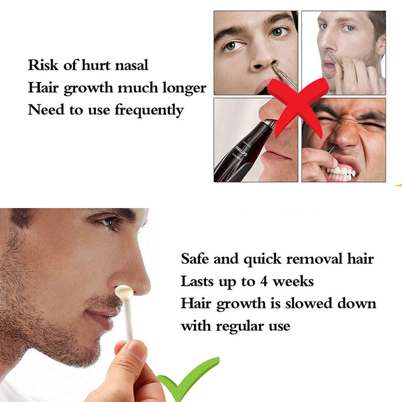 Nose Wax Kit Hair Removal Wax Bean Nose Ear Trimmer Two In One