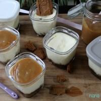 Cheesecakes ultra gourmands au caramel et aux speculoos ( ds la Multi délices)