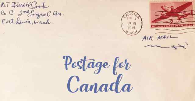 Postage to Canada  Postage From US to Canada