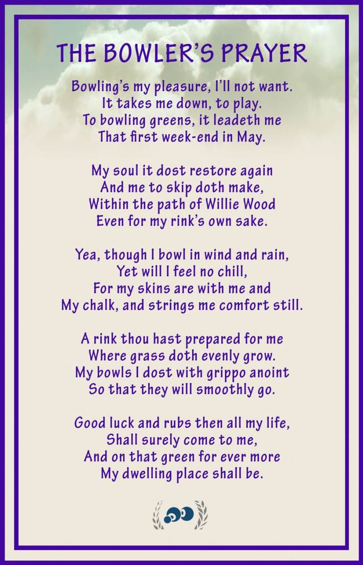 Bowlers Prayer