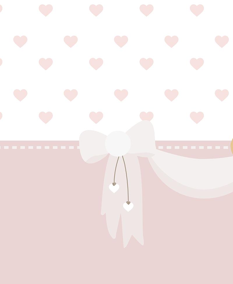 La forma dei cuori con colori diversi è così carina! Tato E Rosa Carta Da Parati Baby Interior Design Wallpaper