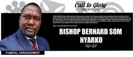 Detailed information about the burial arrangement for the late Bishop Bernard Nyarko 10