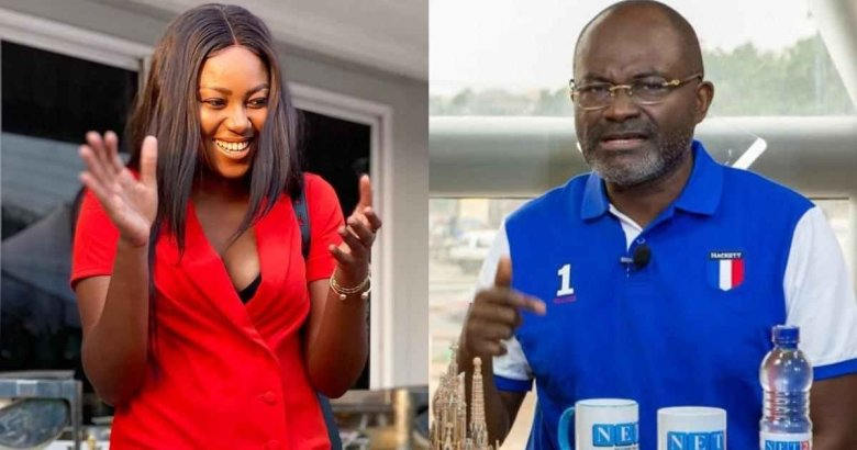 Yvonne Nelson and Hon. Kennedy Agyapong