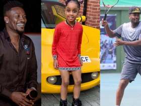 Meet Asamoah Gyan's  daughter Ohemaa who is a year older today [See cute photos]