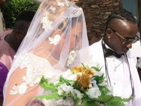 Photos and video from Patapaa's white wedding who and wife Liha Miller involved in a car accident [Watch video and photos ]