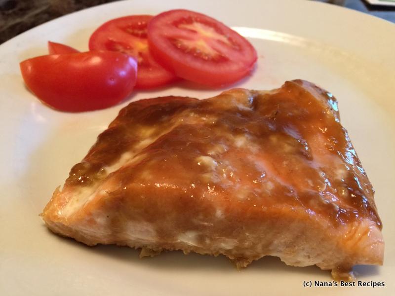 Salmon with Brown Sugar Ginger  Garlic Glaze  Nanas