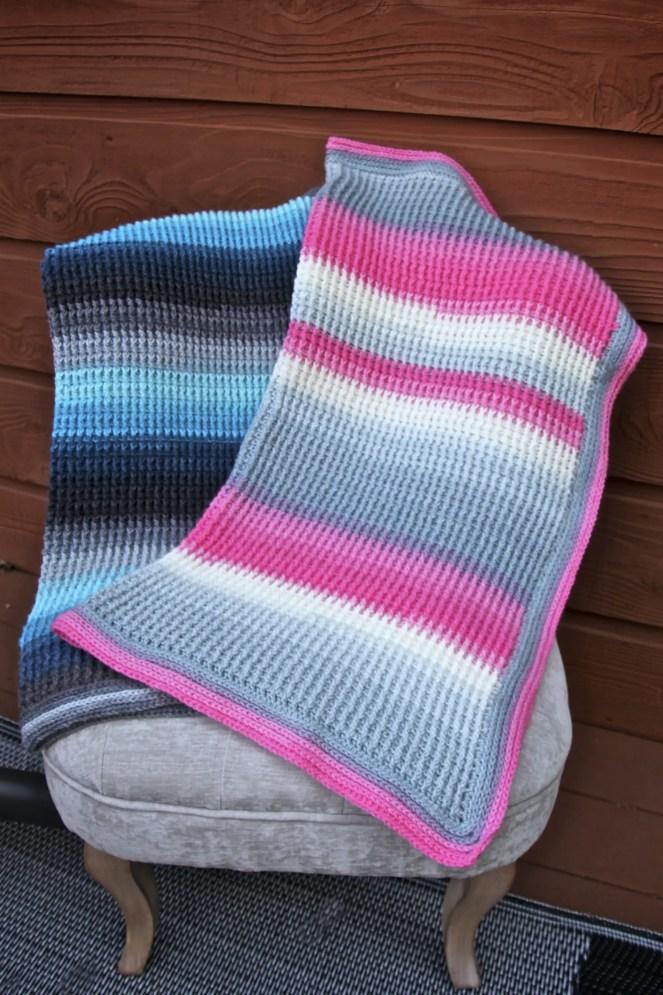 Aurora Skies Ribbed Crochet Baby Blanket pattern