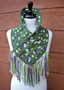 Cascading Colors Crochet Cowl free pattern
